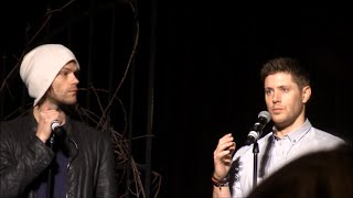 Jensen and Jared GOLD Panel VegasCon 2015 Supernatural