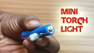 How to Make a Mini Powerful Torch Light l Simple Life Hacks