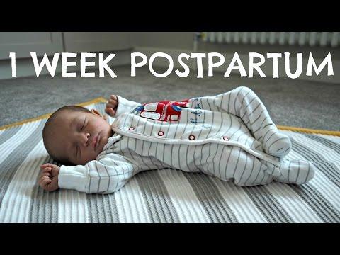 1 WEEK POSTPARTUM AND BABY UPDATE