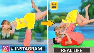 Instagram vs Real Life! Phone Photo DIY Life Hacks
