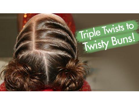 Xxx Mp4 Triple Twists To Twisty Buns Updos Cute Girls Hairstyles 3gp Sex