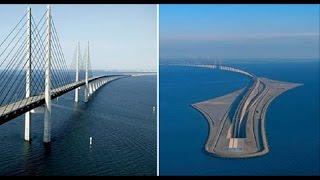 Un puente que se adentra bajo el mar: la fantástica obra de ingeniería que une Dinamarca y Suecia