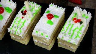 বেকারির মতো চুলায় ভ্যানিলা পেস্ট্রি | No Oven Vanilla Pastry | Bangladeshi Vanilla Pastry Recipe
