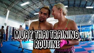 MUAY THAI TRAINING ROUTINE