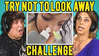 ADULTS REACT TO TRY NOT TO LOOK AWAY CHALLENGE #3