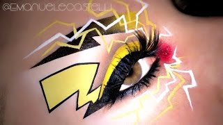 PIKACHU Cosplay - Pokemon Go Halloween Makeup Tutorial