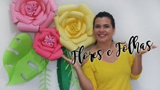 Painel de Flores de Papel | Faça você mesma | Eva Medeiros