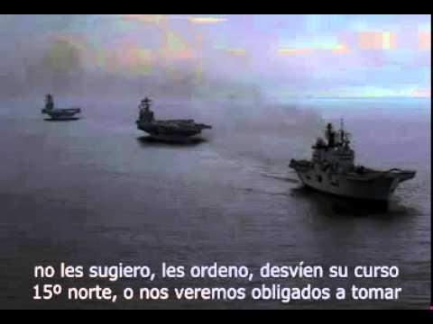 Conversacion entre españoles y portaaviones estadounidense