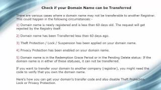 How to access your Domain Transfer Code