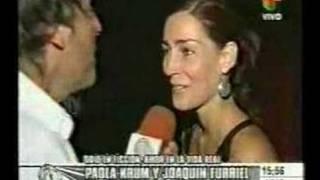 Paola Krum y Joaquín Furriel