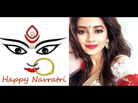 Durga Pooja/Navratri Festive Makeup tutorial| Red and Gold|Shweta Makeup&Beauty