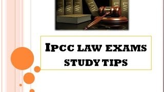 How to pass CA IPCC LAW Exam ?