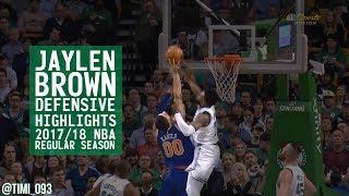 Jaylen Brown Defensive Highlights 2017/18 NBA Regular Season
