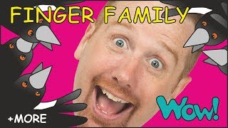 Finger Family with Steve and Maggie + MORE Family Stories for Kids | Wow English TV