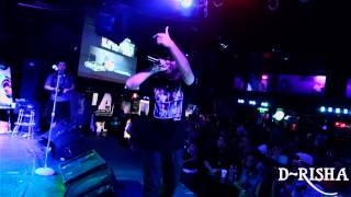 D-Risha Co-Headlining with Rakim at Numbers Houston Texas 2014 (Directed by B-Luce)
