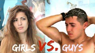 Morning Routine Guys Vs. Girls!
