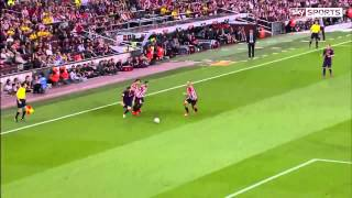 Lionel Messi  - Beats 4  Athletic Bilbao Defenders - Copa del Rey  2015 - English Commentary HD