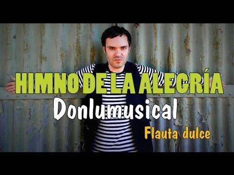 HIMNO DE LA ALEGRIA Beethoven FLAUTA DULCE NOTAS RECORDER NOTES