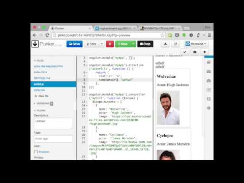 Make reusable components with AngularJS directives