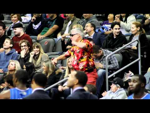 Funniest Dancing Ever !!!! Disco Stu @ Nets Game !! Hilarious