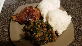 Cooking with Chef Mwanza: How To Make Nshima & kale
