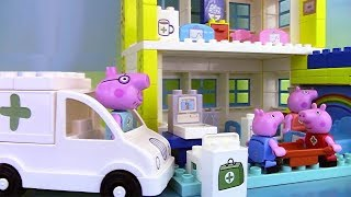 Peppa Pig Blocks Hospital Building Set ♥ Jeu de construction de l'hôpital