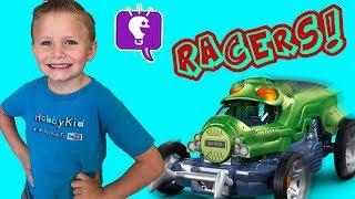 Bug Racers! LIVE Cricket Car Racing + Loser Fed to Frog, Family Fun HobbyKidsTV
