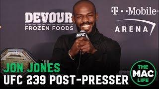 UFC 239 Post-Fight Press Conference: Jon Jones reacts to split decision win
