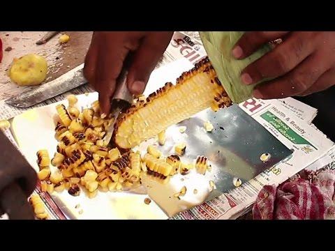 Indian Street Food - Street Food in Mumbai - Masala Corn