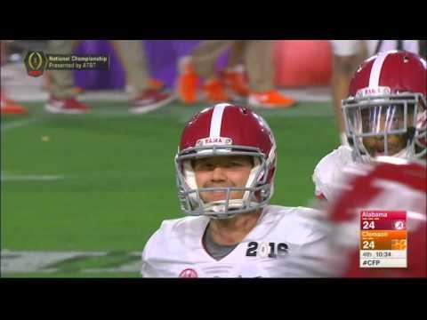 Alabama s onside kick against Clemson.