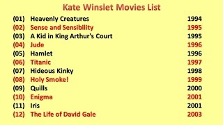 Kate Winslet Movies List