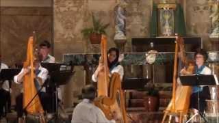 Concert Harpissimo Québec   پیش درآمد اصفهان با 14 چنگ