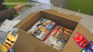 LEGO CITY Unboxing with FREE Batman Minifigures!!!!