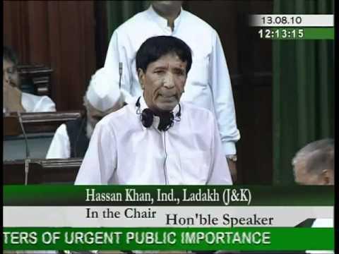 Matters of Urgent Public Importance: Shri Hassan Khan: 13.08.2010