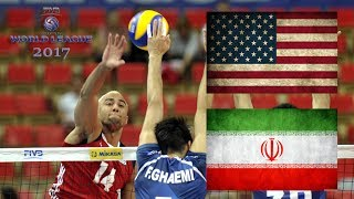 ALL BREAKS REMOVED - Iran v USA -  2017 FIVB Volleyball World League