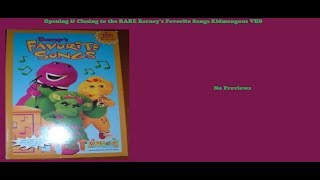 Barney's Favorite Songs RARE Kidmongous VHS Opening & Closing