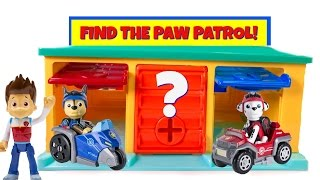 Paw Patrol Hidden in Little Bus Tayo Garage Match Colors Find Mission Pups