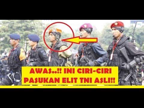 Ciri Asli Pasukan Elit Khusus TNI  Militer Indonesia kopassus,kopaskhas,yontaifib dan Denjaka