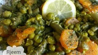 وصفات رمضان اسهل و اسرع خضار سوتيه لمرافقه الاسماك و اللحوم و المشاوي