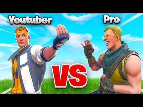 YOUTUBER vs. PRO In Fortnite WHO WINS