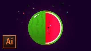 Create a Vector Watermelon Logo Mark – Illustrator Tutorial