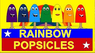 Colors Of The Rainbow For Kids Rainbow Popsicles - Children learning Video
