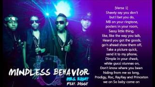 Mindless Behavior - Mrs. Right (ft. Diggy) [LYRICS ON SCREEN] / DOWNLOAD LINK
