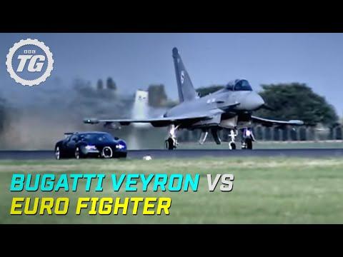 Top Gear Bugatti Veyron vs Euro Fighter Top Gear BBC