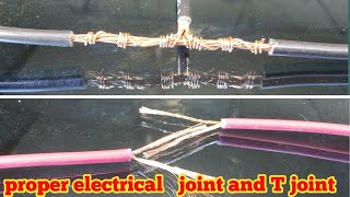 Proper joint of electric wire and cable T joint 2018