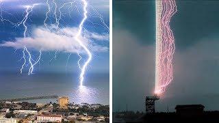 يرسم البرق أحيانا صورة خلابة واحيانا اخري يصبح مخيف.....سبحان الخالق!!!!