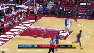 First Half Highlights: Savannah State at Wisconsin | Big Ten Basketball