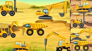Emergency Vehicles Puzzle: Learning Vehicles Sounds | Construction Trucks Rescue For Kids