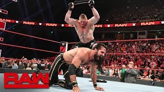 Brock Lesnar viciously mauls Seth Rollins: Raw, June 3, 2019