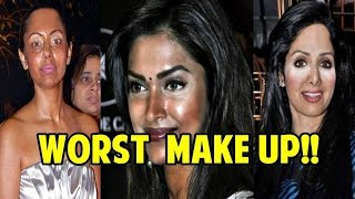 WORST BOLLYWOOD CELEBRITIES MAKE UP FAILS | SHOCKING MAKEUP DISASTER OF BOLLYWOOD ACTRESSES!